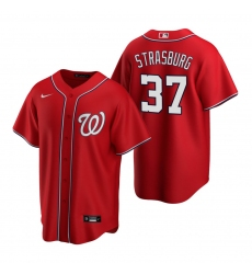 Men's Nike Washington Nationals #37 Stephen Strasburg Red Alternate Stitched Baseball Jersey