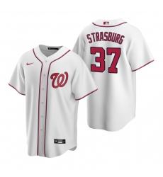 Men's Nike Washington Nationals #37 Stephen Strasburg White Home Stitched Baseball Jersey