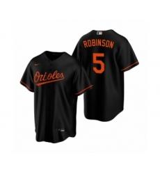 Youth Baltimore Orioles #5 Brooks Robinson Nike Black Replica Alternate Jersey