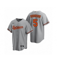 Youth Baltimore Orioles #5 Brooks Robinson Nike Gray Replica Road Jersey