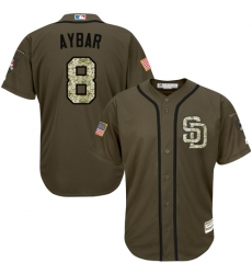 Youth San Diego Padres #8 Erick Aybar Green Salute to Service Stitched MLB Jersey