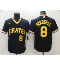 Men's Nike Pittsburgh Pirates #8 Willie Stargell Black Flexbase Authentic Collection Cooperstown Jersey