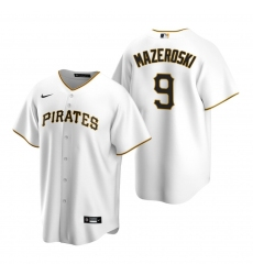 Men's Nike Pittsburgh Pirates #9 Bill Mazeroski White Home Stitched Baseball Jersey