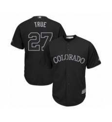Men's Colorado Rockies #27 Trevor Story  True   Authentic Black 2019 Players Weekend Baseball Jersey
