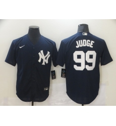 Men's New York Yankees #99 Aaron Judge Authentic Navy Blue Nike MLB Jersey