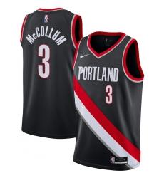 Men's Portland Trail Blazers #3 C.J. McCollum Nike Black 2020-21 Swingman Jersey
