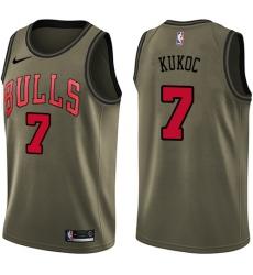 Youth Nike Chicago Bulls #7 Toni Kukoc Swingman Green Salute to Service NBA Jersey