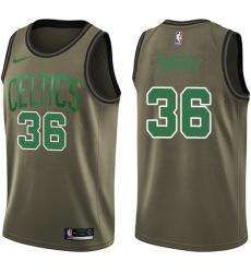 Youth Nike Boston Celtics #36 Marcus Smart Swingman Green Salute to Service NBA Jersey