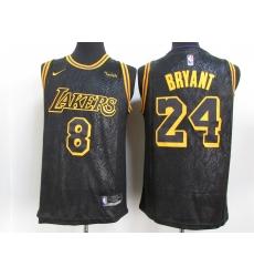 Men's Nike Los Angeles Lakers Kobe Bryant Black Swingman Player NBA Jersey