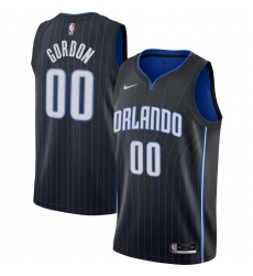 Men's Orlando Magic #00 Aaron Gordon Nike Black 2020-21 Swingman Jersey