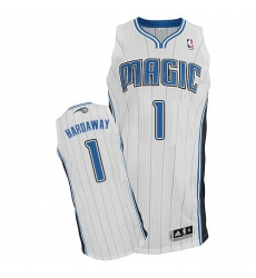 Men's Adidas Orlando Magic #1 Penny Hardaway Authentic White Home NBA Jersey