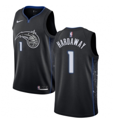 Men's Nike Orlando Magic #1 Penny Hardaway Swingman Black NBA Jersey - City Edition