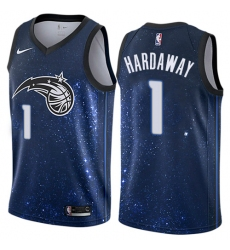 Men's Nike Orlando Magic #1 Penny Hardaway Swingman Blue NBA Jersey - City Edition