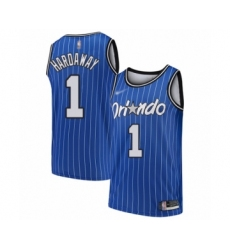 Men's Orlando Magic #1 Penny Hardaway Authentic Blue Hardwood Classics Basketball Jersey