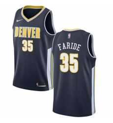 Men's Nike Denver Nuggets #35 Kenneth Faried Swingman Navy Blue Road NBA Jersey - Icon Edition