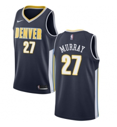 Men's Nike Denver Nuggets #27 Jamal Murray Swingman Navy Blue Road NBA Jersey - Icon Edition
