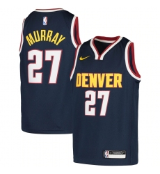 Youth Denver Nuggets #27 Jamal Murray Nike Navy 2020-21 Swingman Jersey