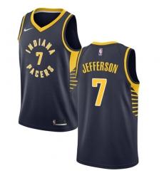 Men's Nike Indiana Pacers #7 Al Jefferson Swingman Navy Blue Road NBA Jersey - Icon Edition