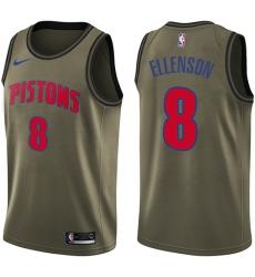 Youth Nike Detroit Pistons #8 Henry Ellenson Swingman Green Salute to Service NBA Jersey
