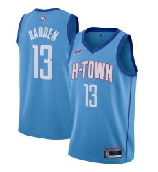 Men's Houston Rockets #13 James Harden Nike Blue 2020-21 Swingman Player Jersey