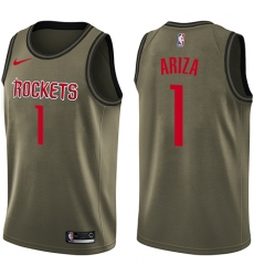 Men's Nike Houston Rockets #1 Trevor Ariza Swingman Green Salute to Service NBA Jersey
