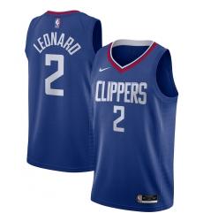 Men's LA Clippers #2 Kawhi Leonard Nike Royal 2020-21 Swingman Jersey