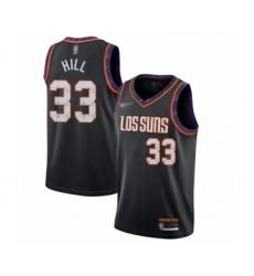 Men's Phoenix Suns #33 Grant Hill Swingman Black Basketball Jersey - 2019 20 City Edition