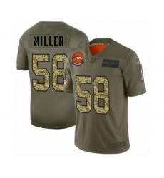 Men's Denver Broncos #58 Von Miller 2019 Olive Camo Salute to Service Limited Jersey