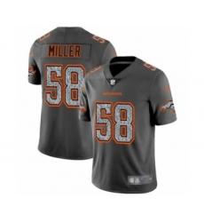 Men's Denver Broncos #58 Von Miller Limited Gray Static Fashion Limited Football Jersey