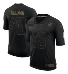 Men's Arizona Cardinals #40 Pat Tillman Black Nike 2020 Salute To Service Limited Jersey