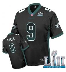 Men's Nike Philadelphia Eagles #9 Nick Foles Limited Black Drift Fashion Super Bowl LII NFL Jersey