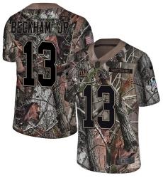 Men's Nike New York Giants #13 Odell Beckham Jr Limited Camo Rush Realtree NFL Jersey