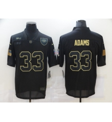Men's New York Jets #33 Jamal Adams Black Nike 2020 Salute To Service Limited Jersey