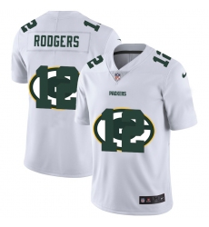 Men's Green Bay Packers #12 Aaron Rodgers White Nike White Shadow Edition Limited Jersey