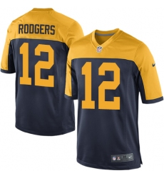 Men's Nike Green Bay Packers #12 Aaron Rodgers Game Navy Blue Alternate NFL Jersey