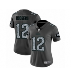 Women's Green Bay Packers #12 Aaron Rodgers Limited Gray Static Fashion Limited Football Jersey