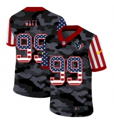 Men's Houston Texans #99 J.J. Watt Camo Flag Nike Limited Jersey