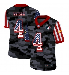 Men's Houston Texans #4 Deshaun Watson Camo Flag Nike Limited Jersey