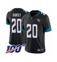Youth Nike Jacksonville Jaguars #20 Jalen Ramsey Black Team Color Vapor Untouchable Limited Player 100th Season NFL Jersey